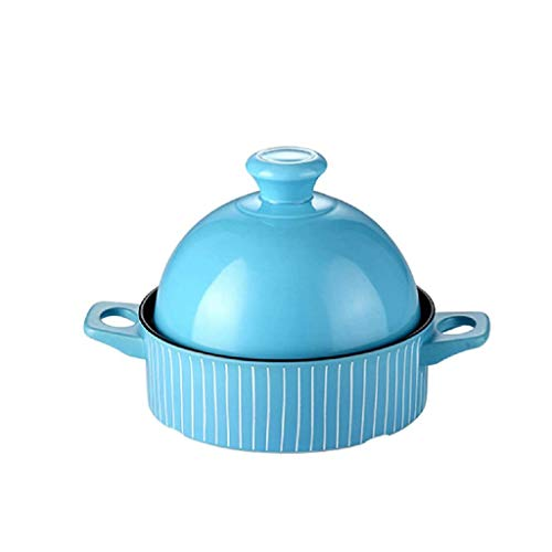 SCRFF Bleu Porcelaine Ramekins Plats de Cuisson Bols Tasse, Tasses, Plats Souffle Crème brulée Crème Anglaise Coupes Desserts Four à Micro-Ondes