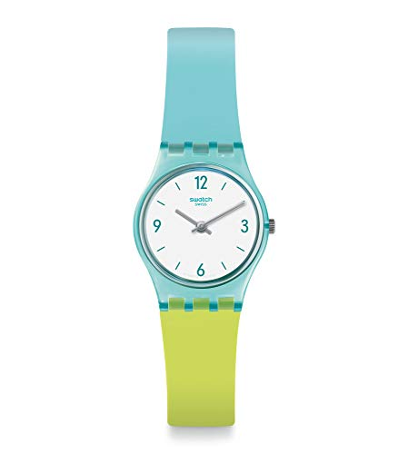 Swatch Reloj Analógico para Mujer de Cuarzo con Correa en Silicona LL122