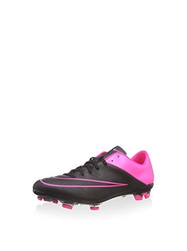 Nike Mercurial Veloce II Leather FG, Chaussures de Football Homme, Noir/Fuchsia, 40 EU