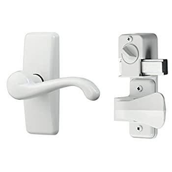 Ideal Security HK357DB05W GL Lever Set for Storm and Screen Doors with Deadbolt White