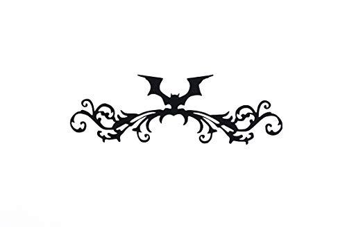 Bat Flourish Vinyl Decal Halloween Bat Bat Decor Halloween Diy Crafts Bat Sticker Bat Laptop Decal Bat Mug Decal