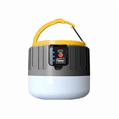Campinglampe LED USB Wiederaufladbare, Fernbeleuchtung Solar Lampe, Große Power Bank, IPX6 Wasserdicht, 5 Modi SOS Wasserdicht Tragbar Camping Lampe Zeltlampe, Superhell, Dauerhaft