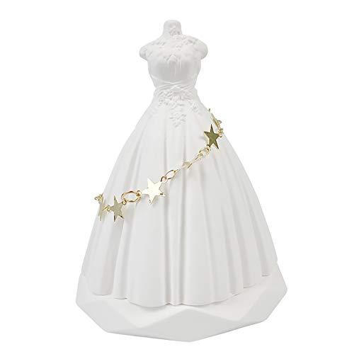 INEBIZ Romántico vestido de boda de cerámica con piedra difusor de aroma de lujo para coche encanto interior del tablero de instrumentos