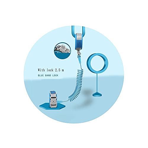 Resistente al desgaste Anti-Perdida de muñeca Link Belt, 2,5 M Caminar correa de muñeca correas for niños y bebés 360 ° Rotar Seguridad cuerda pulsera con alambre elástico y cierre de seguridad