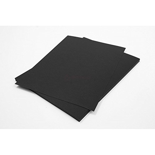 Netuno 10 Blatt Schwarz 500g Tonpapier DIN A4 210x297mm Burano Nero, ideal für Karten, Scrapbooking, Basteln und Dekorieren mit Papier, Einladungen, Kunst und Handwerk