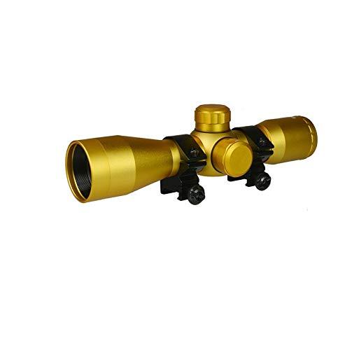 DB TAC INC 4x32 Anodize Gold Color Mil-dot Reticle Slug Scope Picatinny Weaver Mounted Aluminum Hunting Optics Accessory