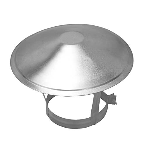 LTLGHY Cappuccio per Parapioggia per Tubo per Canna Fumaria in Acciaio Inossidabile Tappo per Protezione da Pioggia E Neve, Protezione per Canna Fumaria per Pipefit 75-250Mm,90mm