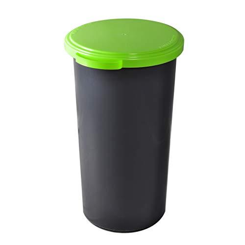 *KUEFA 60L Müllsackständer mit flachem Deckel (Hellgrün)*
