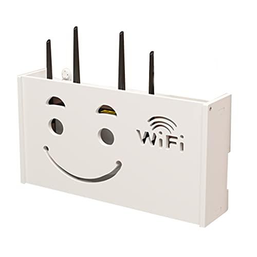 Soporte WiFi decodificador de TV Rack de enrutador Caja de Almacenamiento Caja de Refugio Decorativa montado en la Pared