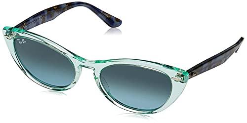 Ray-Ban Nina RB4314N-12853M Gafas de Sol, Transparente/Green, 54 Unisex
