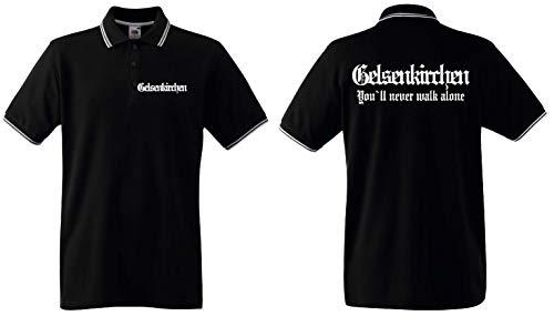 world-of-shirt / Gelsenkirchen Herren Polo-Retro Fan Ultras