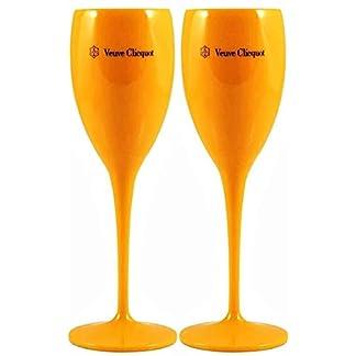 Veuve-Clicquot-Champagnerglaeser-aus-Kunststoff-Orange-2-Stueck