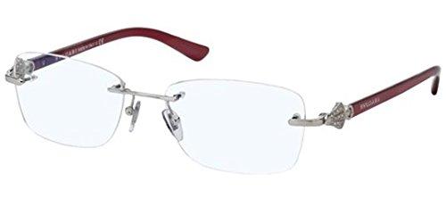 Bulgari montura de gafas 2169B Para Mujer Silver, 52mm plateado 102: Silver
