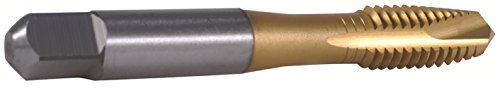 HHIP 1011-7704 M6-1.0 D5 Tin Metric Spiral Point Tap-Plug, Din371 3 Flute