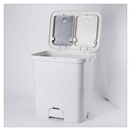 MotBach 25 / 40L Capacidad Grande 2 Capas Buques de Basura Mojado y seco Clasificación Cuchillo Cocina Cocina Ruedas Verticales Bandejo de residuos Reciclaje de Almacenamiento (Size : Small)