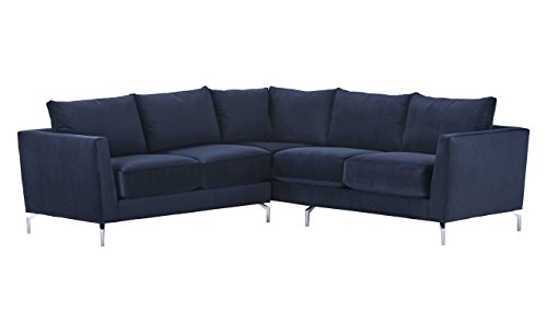 Amazon Brand – Rivet Emerly Modern Sectional Sofa, 96'W, Navy