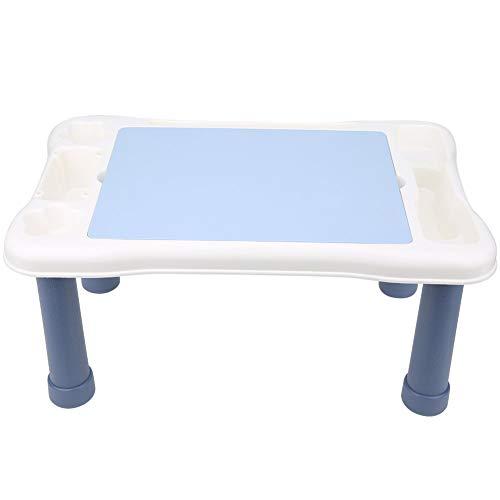 Salaty Mesa de Bloques de construcción de Estudio, Mesa de Actividades múltiples fácil de configurar, Mejora la Inteligencia de los niños Construcción de plástico Ligero para niñas(8801)