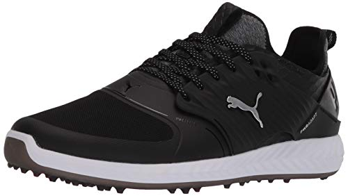 Puma Golf Men's Ignite Pwradapt Caged Athletic Shoe, Puma Black-Puma Silver-Puma Black, 7 M US