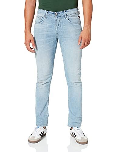 REPLAY Grover Jeans, 010 Light Blue, 34W x 32L Uomo