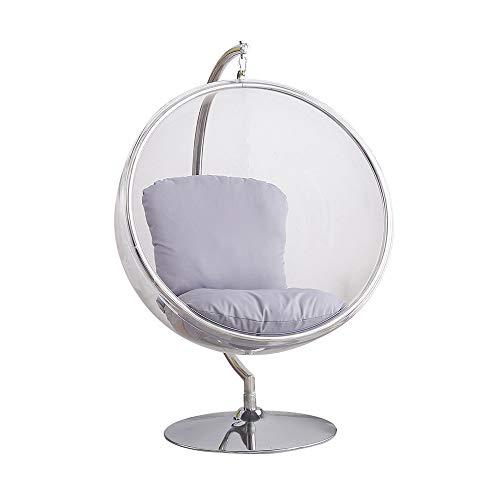 SMGPYHWYP Bubble Chair, Canasta Colgante para Adultos de Vidrio Transparente, Silla Colgante, Silla giratoria Hemisphere
