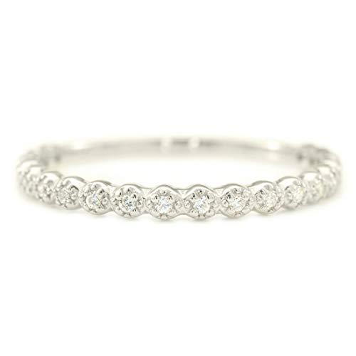 [ココカル]cococaru プラチナ Pt900 エタニティリング ダイヤモンド リング 0.1ct 重ね付け 指輪 17号 天然 ダイヤモンド 日本製