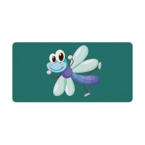 Mauspad,Schreibtischpad,Tastaturpad können definiert werden.Comic Libelle.Das exquisite Mauspad macht Ihre Arbeit und Spiele effizienter und komfortabler! 30x60cm