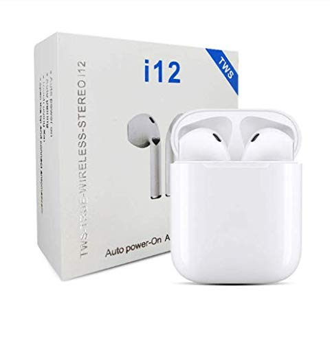 i12 TWS Wireless Bluetooth Headphones 5.0, Earbuds, Charging Case Included, Compatible with All Bluetooth Devices