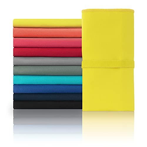 Blumtal Mikrofaser Handtuch - Handtücher, Ultra leicht, kompakt & schnelltrocknend, 120 x 60cm, gelb