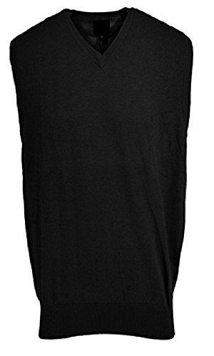 F/X Fusion Big and Tall Sweater Vest Acrylic Blend (5X, Black)