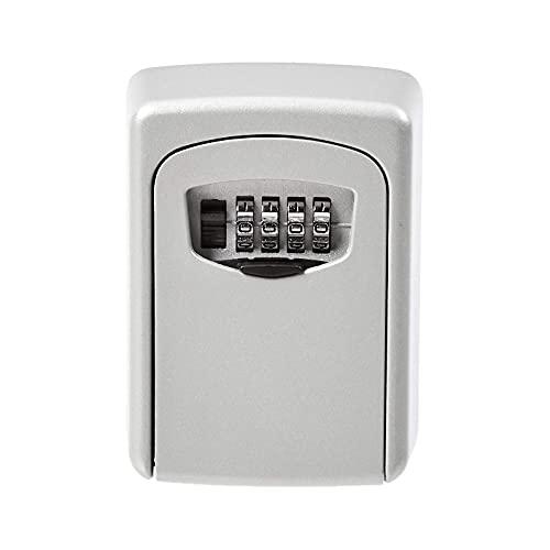 Caja de almacenamiento de llaves montada en la pared, cerradura de combinación, gris (gris)