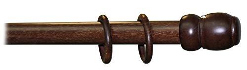 BASTONE IN LEGNO A STRAPPO MM. 35 NOCE SCURO CM. 150