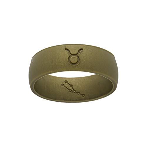 Leo's Creations Taurus Zodiac Ring (Army Green, 10)
