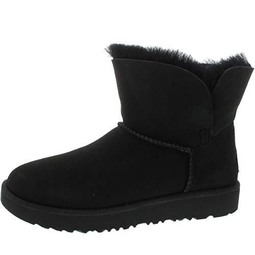 UGG Winterstiefel Schwarz Damen Boots Reitstiefel Stiefelette Overknee Stiefel Classic Cuff Mini Wildleder - 39 EU