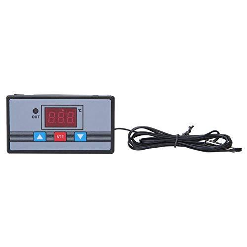 Controlador de temperatura Interruptor de termostato digital Pantalla digital de rendimiento estable de alta precisión con protección de conexión inversa para(DC12V)