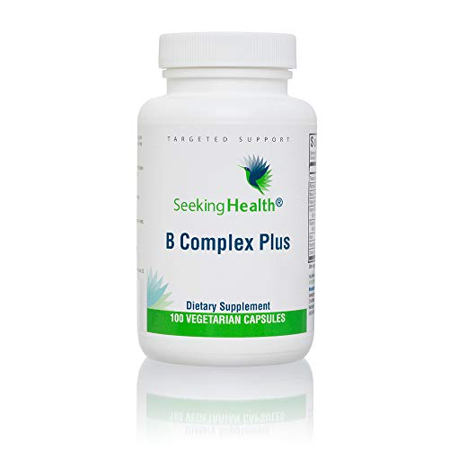 B Complex Plus   100 Capsules   Seeking Health   Vegetarian Vitamin B Complex Capsules   100 Easy-to-Swallow Capsules