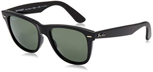 Ray-Ban unisex adult Rb2140 Original Wayfarer Polarized Sunglasses, Black/Polarized Green, 54 mm US