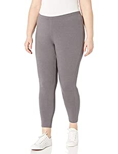 Cotton-rich fabric with spandex to move with you Thin elastic tag-free waist Classic legging fit with open leg bottom No pockets, no drawstring for slim look 26 inch