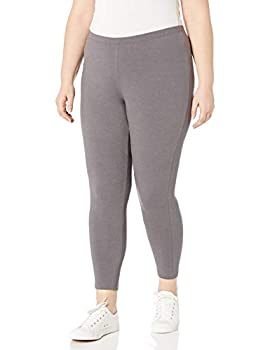 Just My Size Women s Plus-Size Stretch Jersey Legging Charcoal Heather 1X