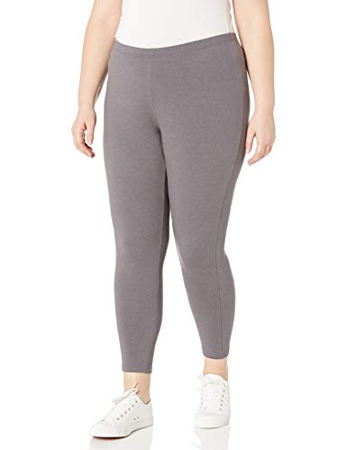 Just My Size Women's Plus-Size Stretch Jersey Legging, Charcoal Heather, 2X