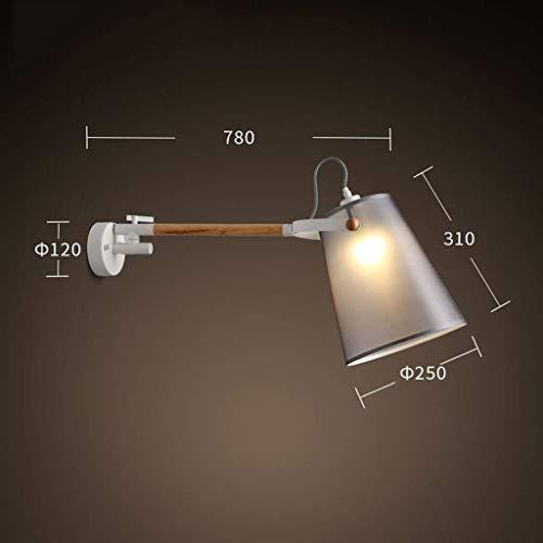 Wandlamp, LED, personaliseerbaar, lamp van massief hout, lampenkap, eenkleurig, warm, JTD Chaud Ht