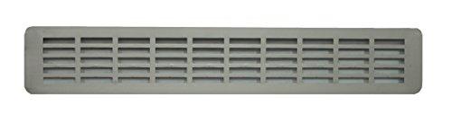 BarPan LTD - Rejilla de Ventilación de Aluminio Anodizado para Encimera de Cocina, Parrilla de Ventilación de Aluminio con Plinto. (51,5 x 7 cm)