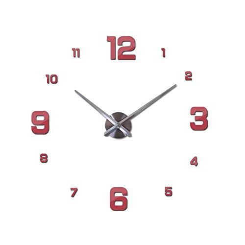 XMBT Reloj de Cocina Dormitorio Reloj de Pared Redondo,Reloj de Pared para niños Relojes de Pared Modernos de Estilo Europeo Vintage Reloj de Pared Redondo para el hogar Premier Shcool Clock