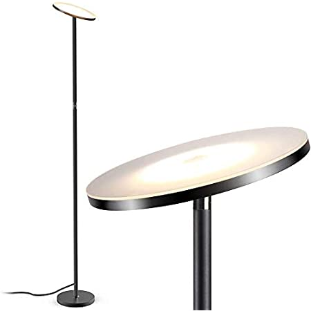 LED Floor Lamp, Uplighter Floor Light 3 Brightness Levels, Dimmable Touch Control Tall Standing Modern Pole Light, TECKIN 30W Daylight Floor Lights for Living Rooms & Bedrooms