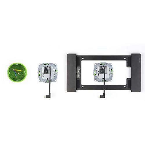 sDock Fix s11, schwarz + sCharge s24l Unterputz-Netzteil im Set