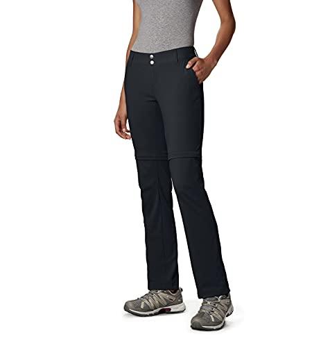 Columbia Women's Standard Saturday Trail II Convertible Pant, Black, 4 Regular