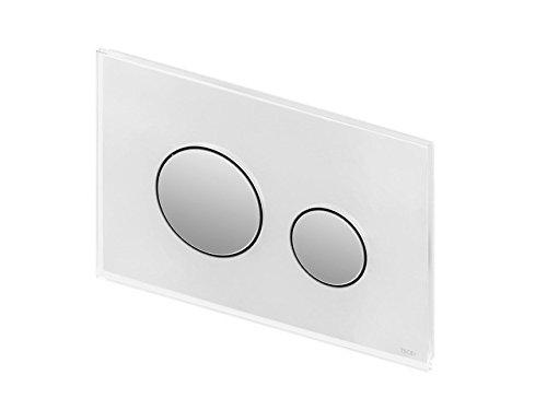 TECE Loop WC Betätigungsplatte Glas weiß,Tasten Chrom glänzend 9240660