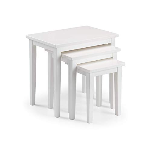 Julian Bowen Cleo Nest of Tables, White