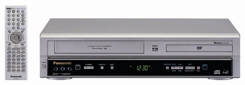 Cheapest Price! Remanufactured Panasonic PV-D734S Double Feature DVD/VCR Combination Deck, Silver