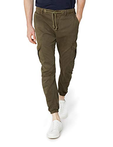 Urban Classics Herren Hose Cargo Jogging Pants, Grün (Olive), S