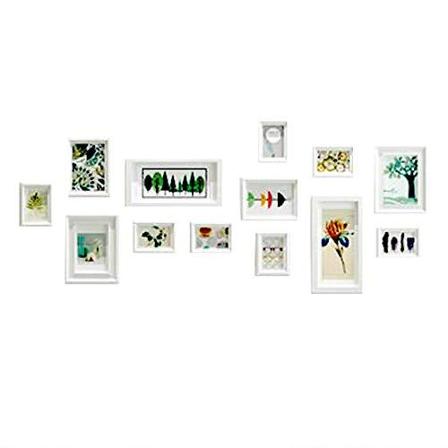 ZMDJ fotolijsten, set van 13 opknoping fotolijsten Collage muur monteerbaar of gratis staande fotolijsten eenvoudige fotolijst creatieve foto muur galerij kit voor meerdere foto's